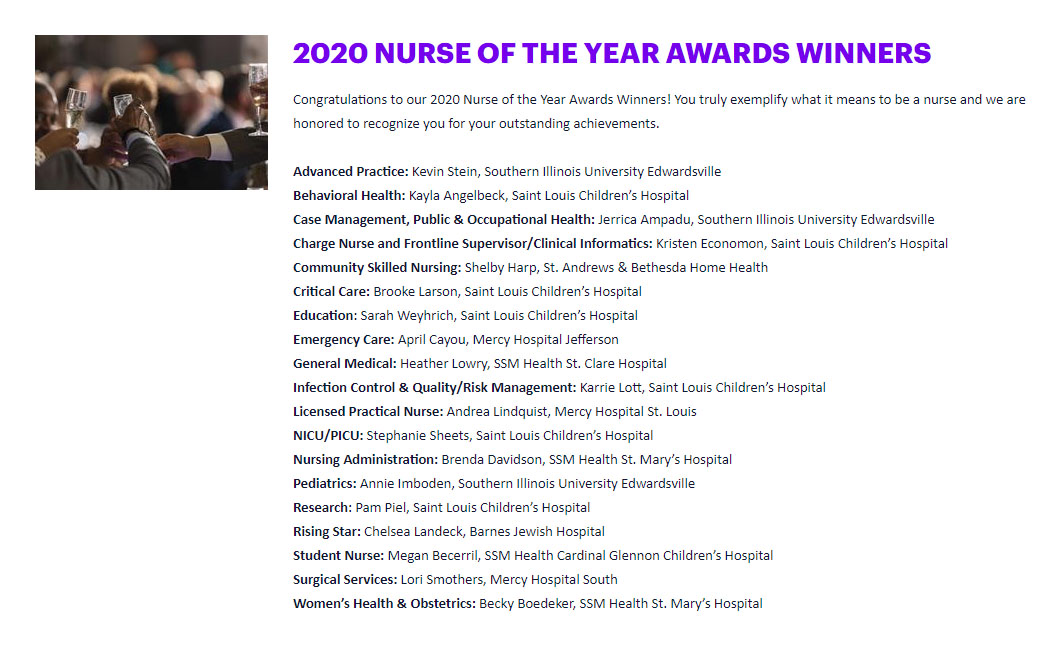 Congratulations Shelby Harp for being named Nurse of the Year for 2020.