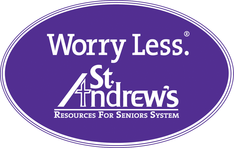 Worry Less logo of St. Andrew's Resources for Seniors